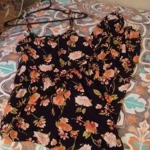 Beautiful Peach & Black Romper